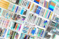 Eigenes Foto: Bücherwand, invertiert