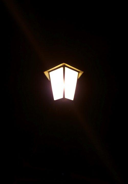 Ausschnitt Eigenes Foto Strassenbeleuchtung