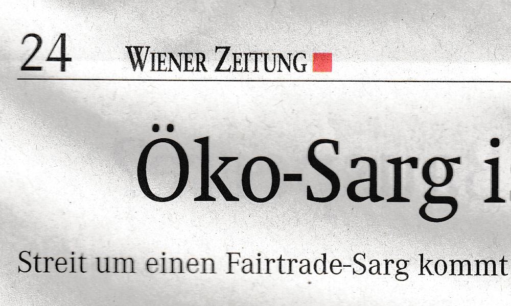 Ausschnitt Scan: Wiener Zeitung