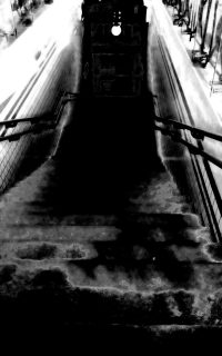Eigenes Foto: Treppe Bahnhof Hütteldorf