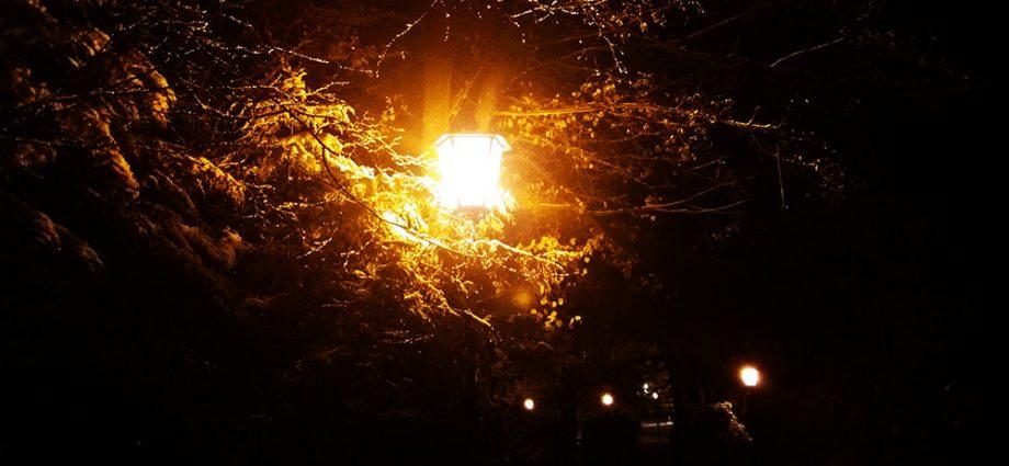 Header: Straßenlaterne bei Nacht