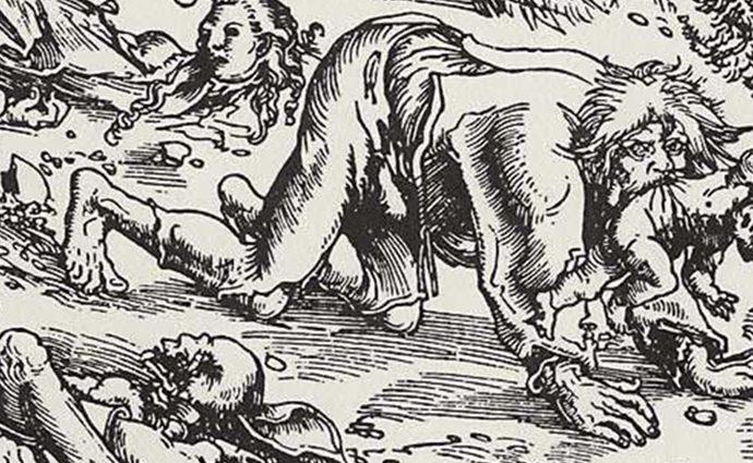 Ausschnitt: Lucas Cranach der Ältere: Werwolf