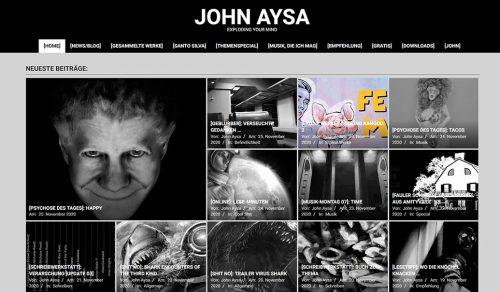 Footer: Schreenshot Website John Aysa