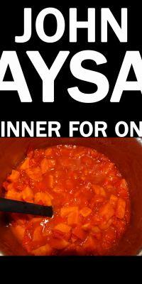 Cover: John Aysa: Dinner for One